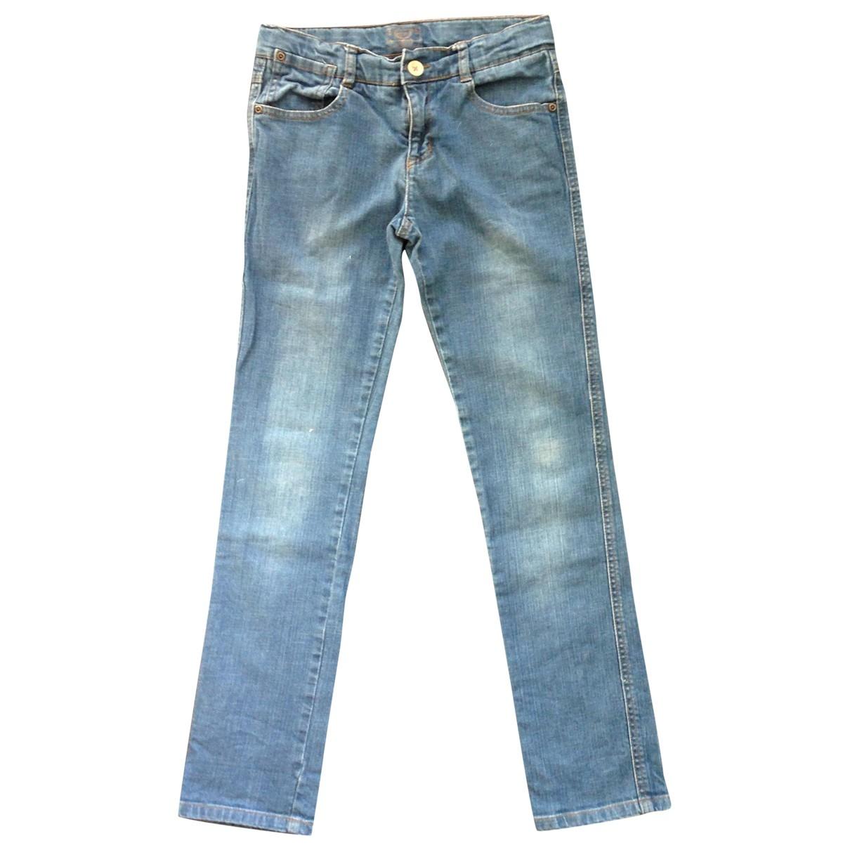 Cyrillus - Pantalon   pour enfant en coton - bleu