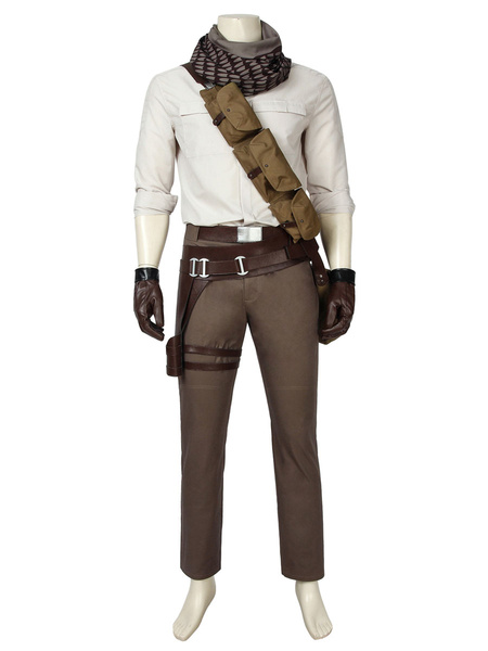 Milanoo Star Wars 9 The Rising Of Skywalkers Cosplay Poe Dameron Cotton Suit