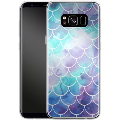Samsung Galaxy S8 Silikon Handyhuelle - Purple Mermaid Scales von Becky Starsmore
