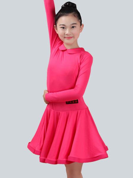 Milanoo Dance Costumes Latin Dancer Dresses Kids Long Sleeve Mint Green Ballroom Dancing Wears Outfit For Girls Halloween