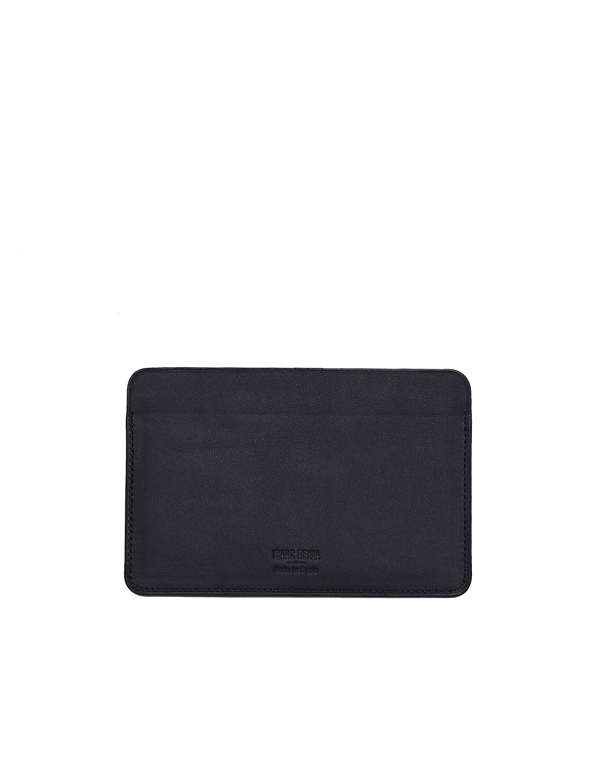 Isaac Reina Black Leather Passport & Card Holder