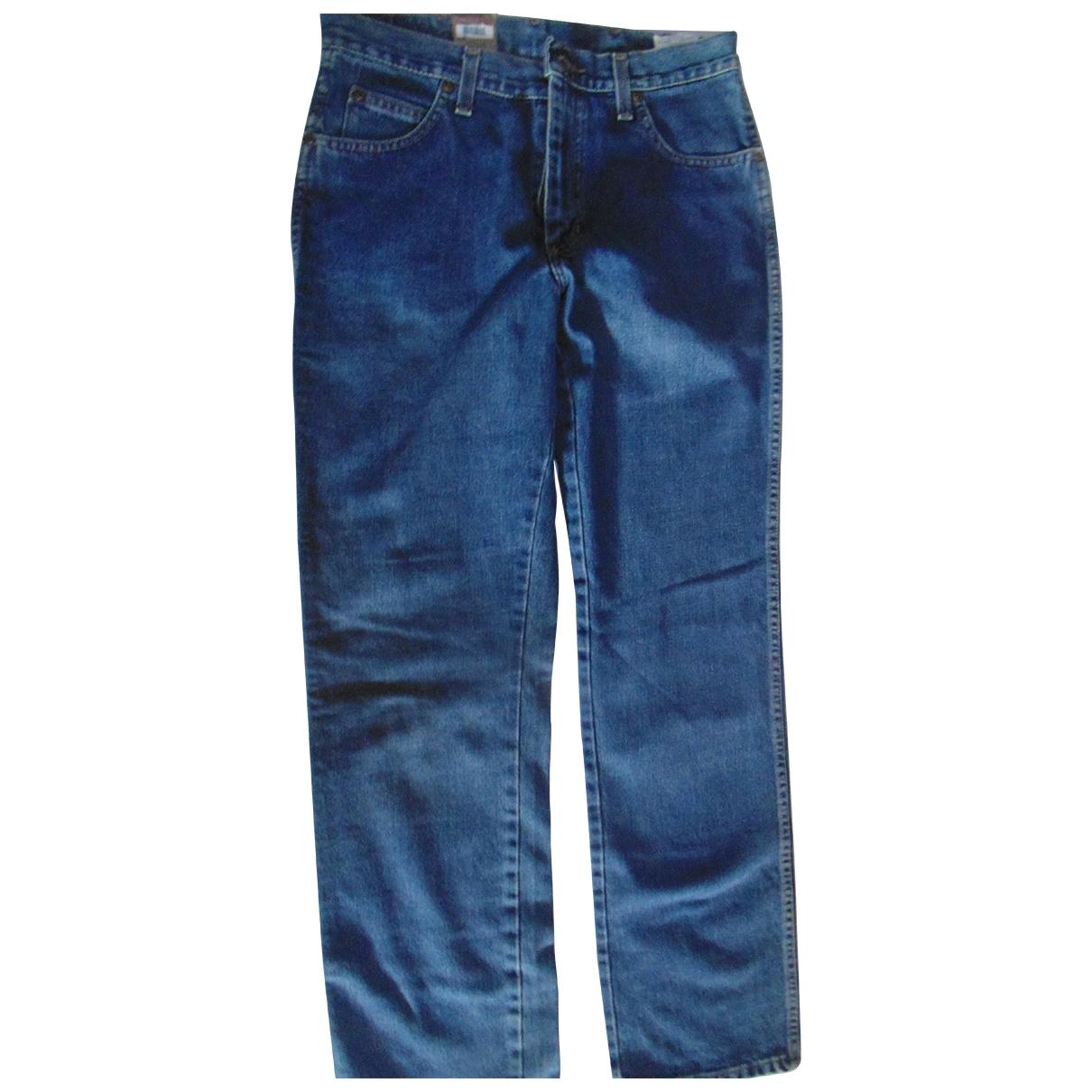 Wrangler \N Blue Cotton Jeans for Men 32 UK - US