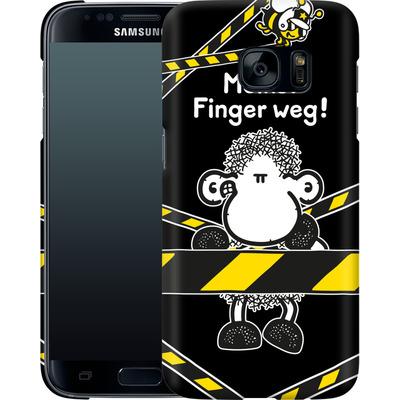 Samsung Galaxy S7 Smartphone Huelle - Finger Weg von Sheepworld