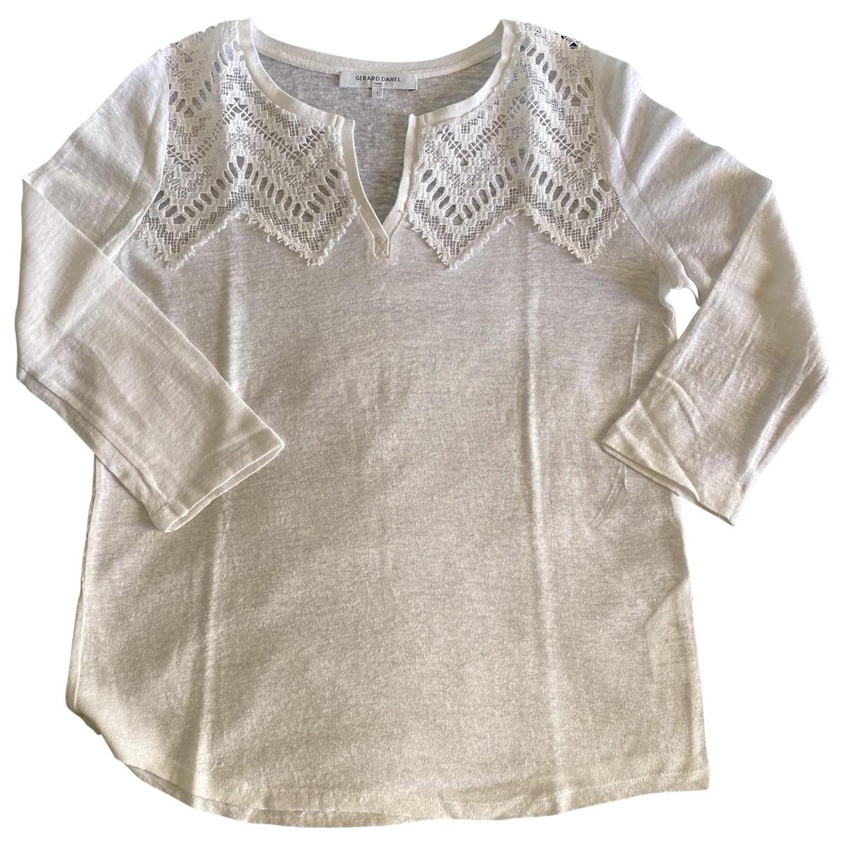Gerard Darel - Top   pour femme en coton - blanc
