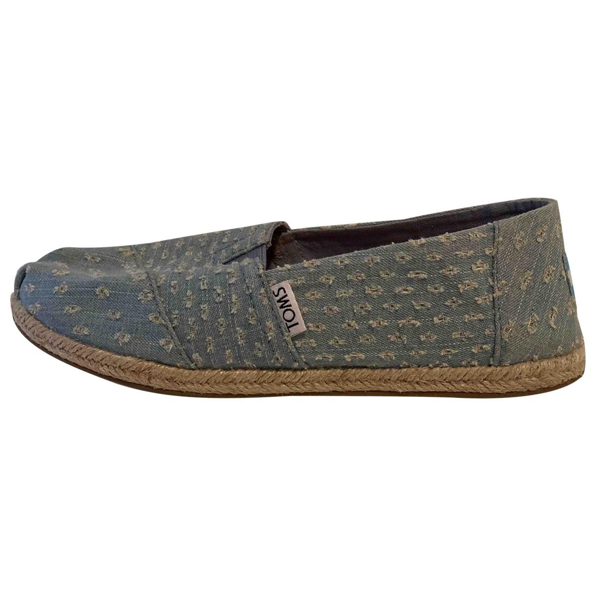 Toms \N Espadrilles in  Tuerkis Denim - Jeans