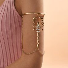1pc Rhinestone Decor Scorpion Decor Arm Bracelet