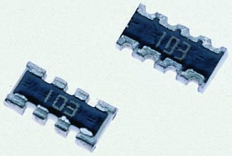 Bourns CAY16 Series 680Ω ±5% Isolated SMT Resistor Array, 4 Resistors, 0.25W total 1206 (3216M) package Convex (50)