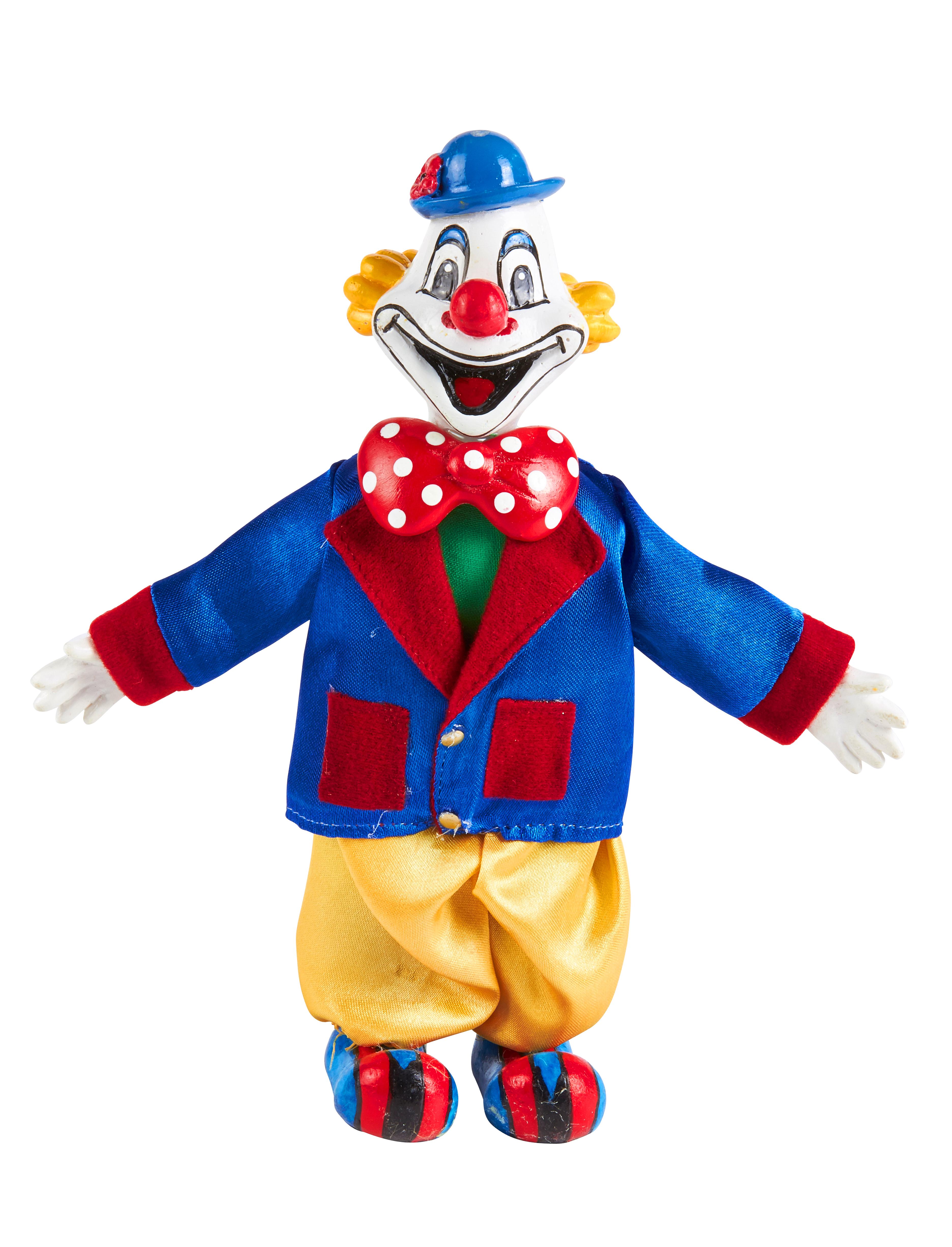 Kostuemzubehor Deiters Clown 15cm Farbe: multicolor bzw. bunt