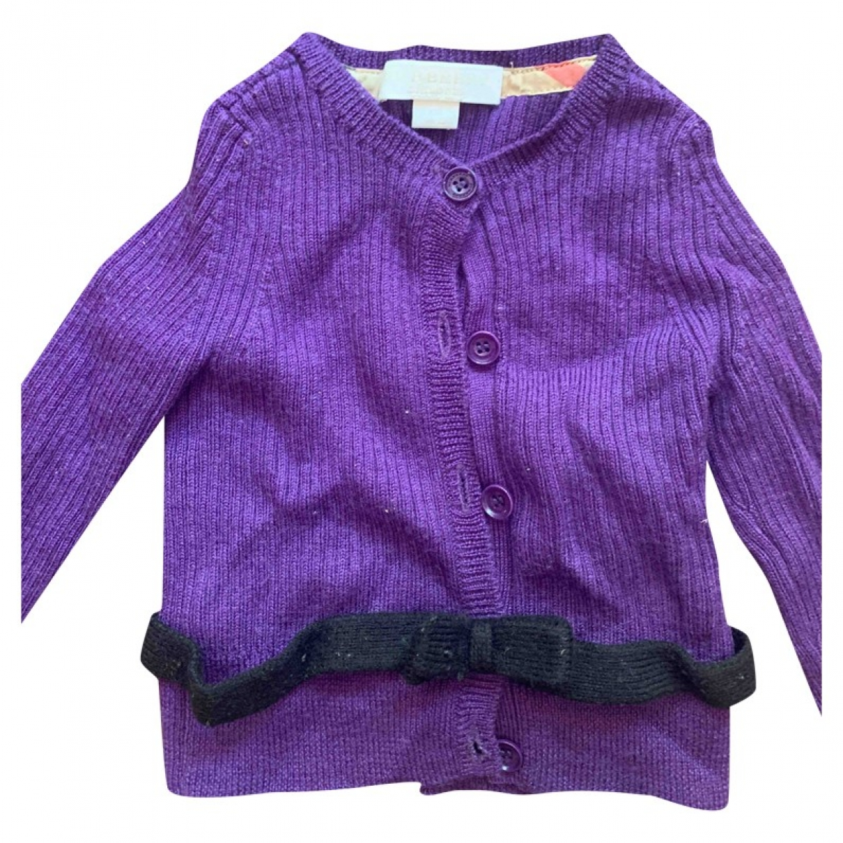 Burberry \N Purple Wool Knitwear for Kids 12 months - up to 74cm FR