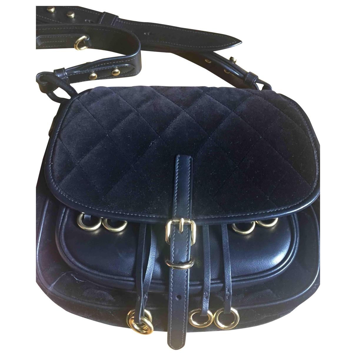 Prada Corsaire Navy Velvet handbag for Women \N