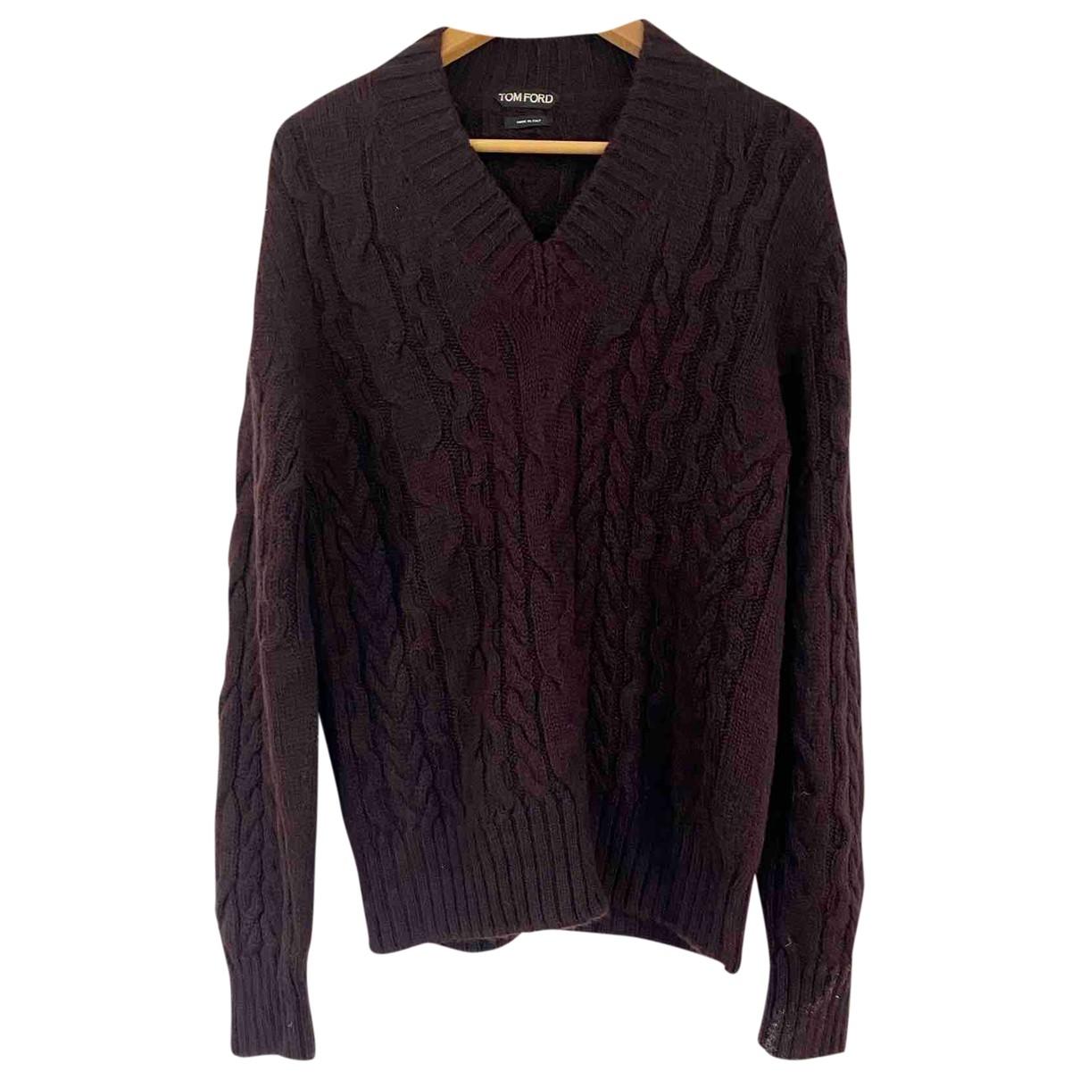 Tom Ford - Pulls.Gilets.Sweats   pour homme en laine - bordeaux