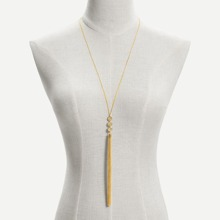 Long Tassel Pendant Chain Necklace