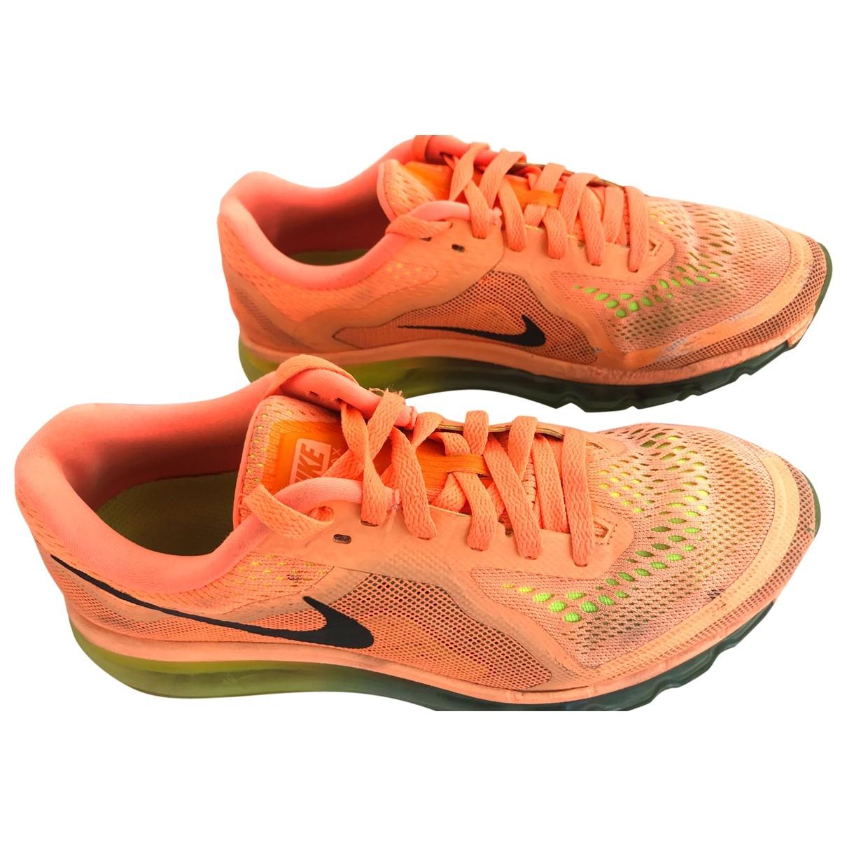 Nike Air Max  Sneakers in  Orange Leinen