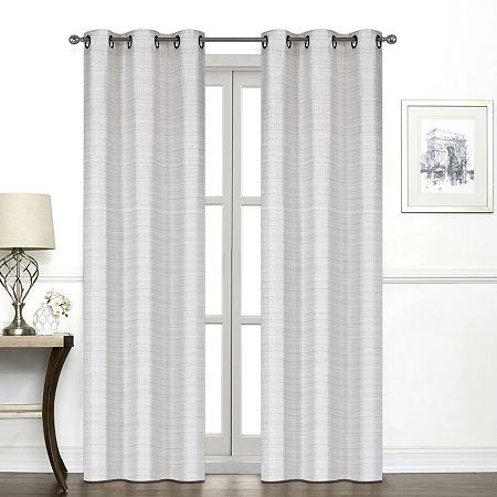 Regal Home York Light-Filtering Grommet-Top Single Curtain Panel, One Size , Beige