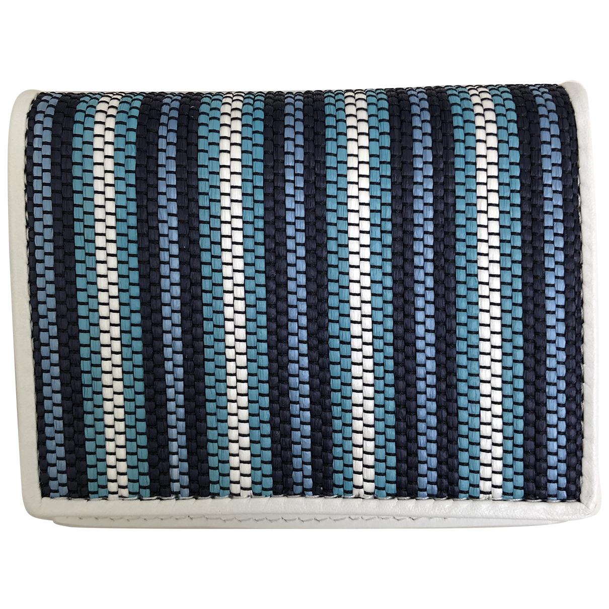 Diane Von Furstenberg N Blue Leather wallet for Women N