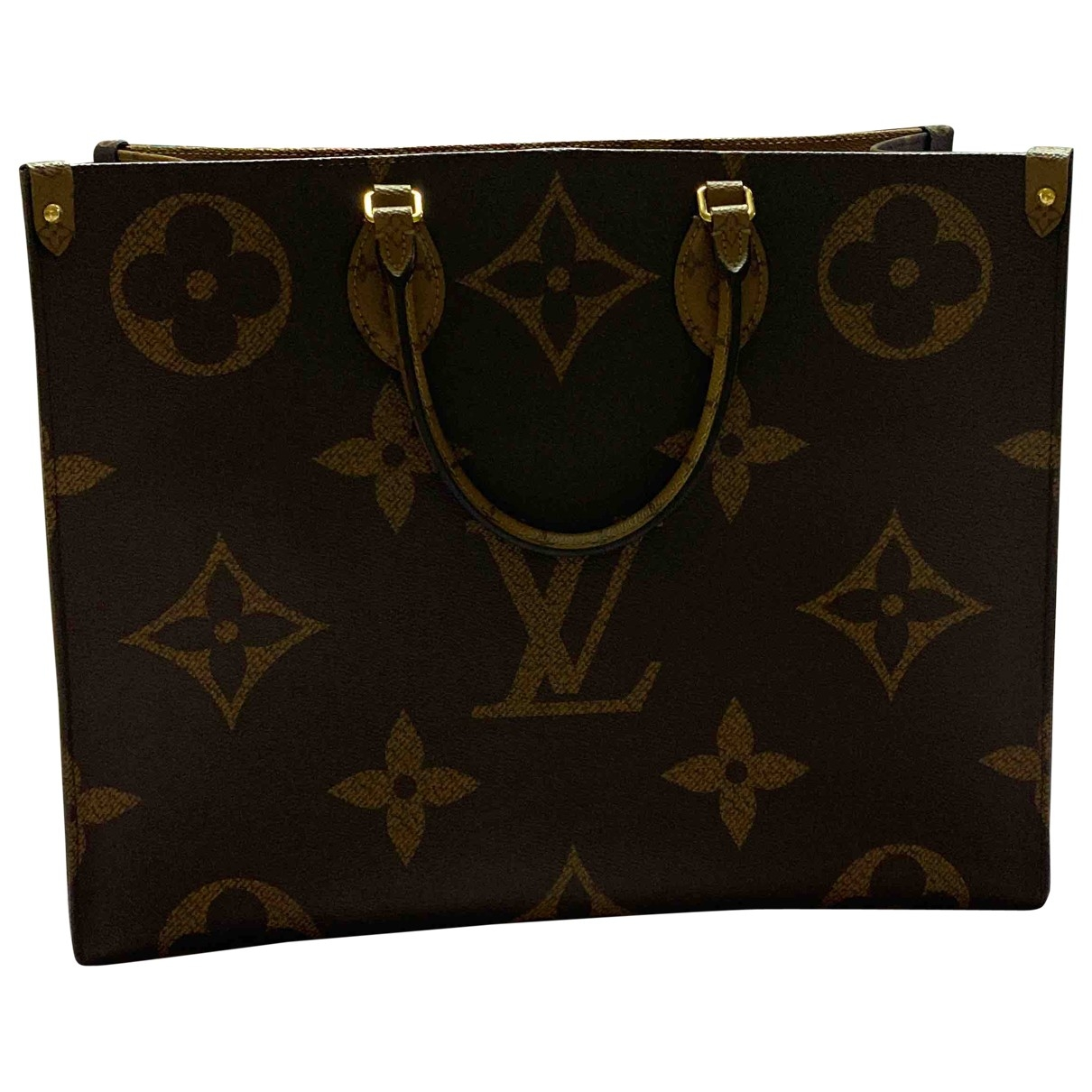 Louis Vuitton Onthego Camel Cloth handbag for Women \N