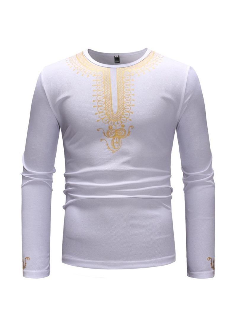 Ericdress African Fashion Dashiki Print Mens T-shirt