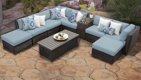 Venice Collection VENICE-10a-SPA 10-Piece Patio Set 10a with 2 Corner Chair   4 Armless Chair   2 Ottoman   1 Cup Table   1 Coffee Table - Wheat and