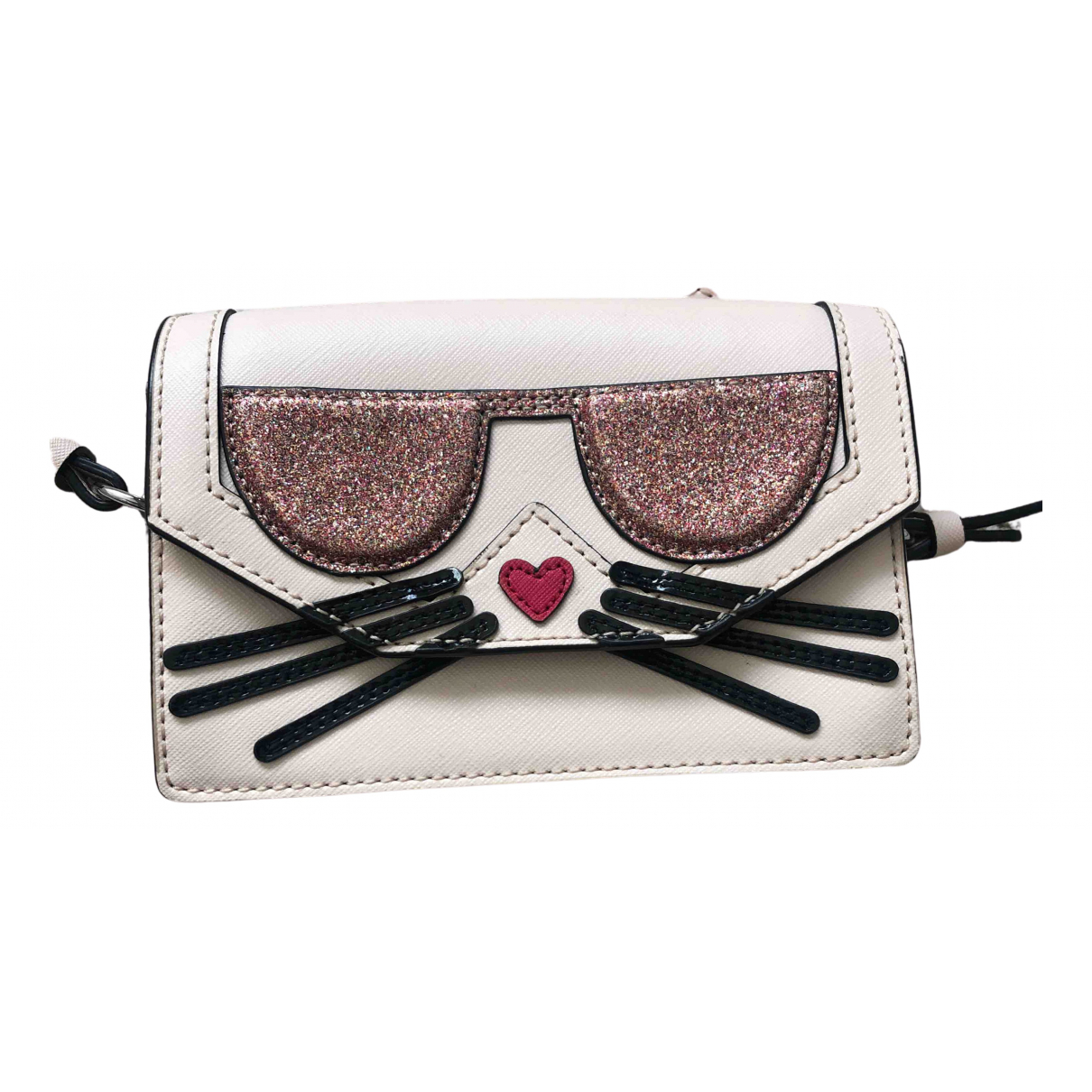 Karl Lagerfeld N Beige Leather Clutch bag for Women N