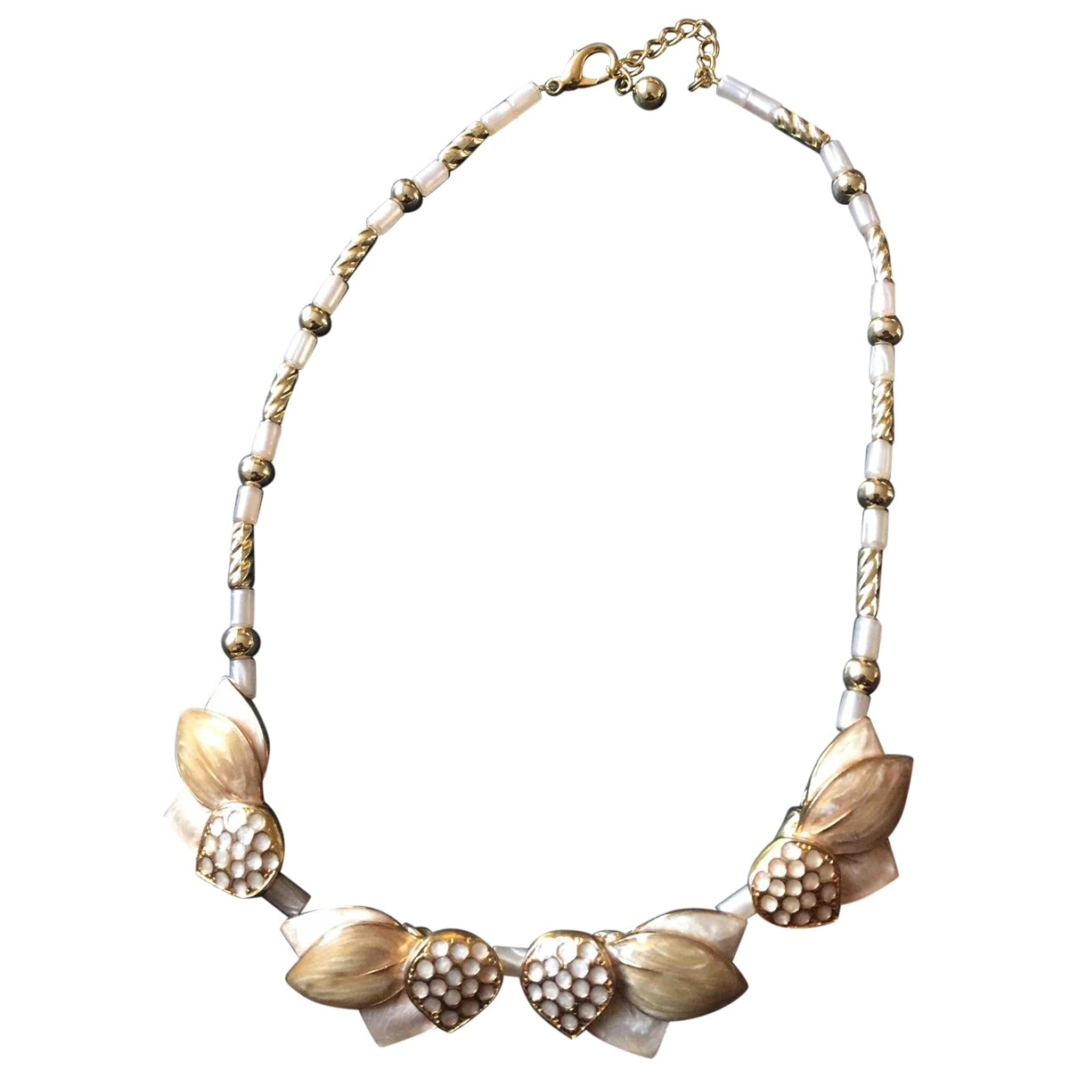 Non Signé / Unsigned Motifs Coquillages Gold Metal necklace for Women \N