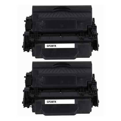 Compatible HP 87X CF287X cartouche de toner noire haute capacité - boîte économique - 2/paquet