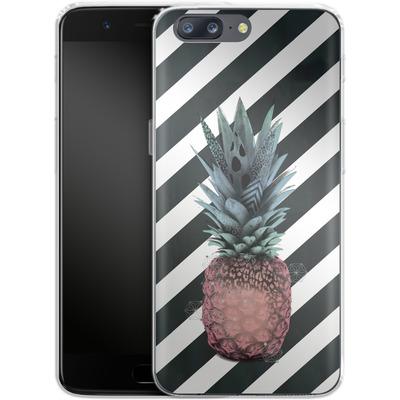 OnePlus 5 Silikon Handyhuelle - Pink Pineapple von Victoria Topping