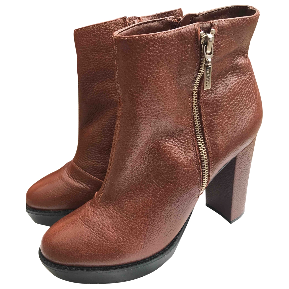 Non Signé / Unsigned \N Brown Leather Heels for Women 41 EU
