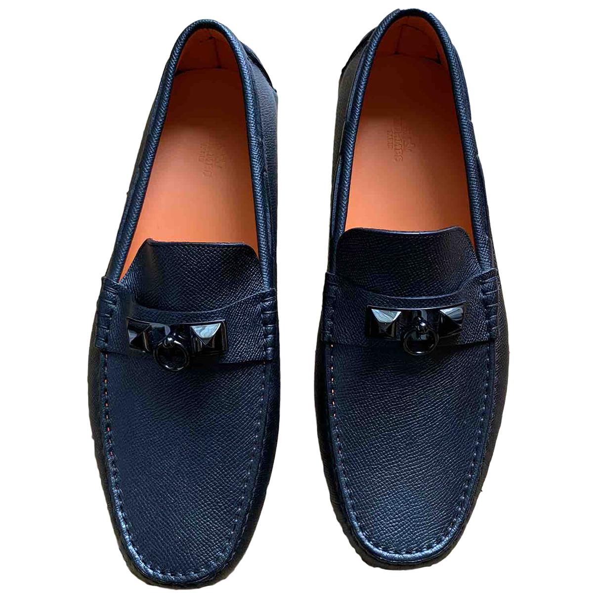 Hermes - Mocassins Irving pour homme en cuir - noir
