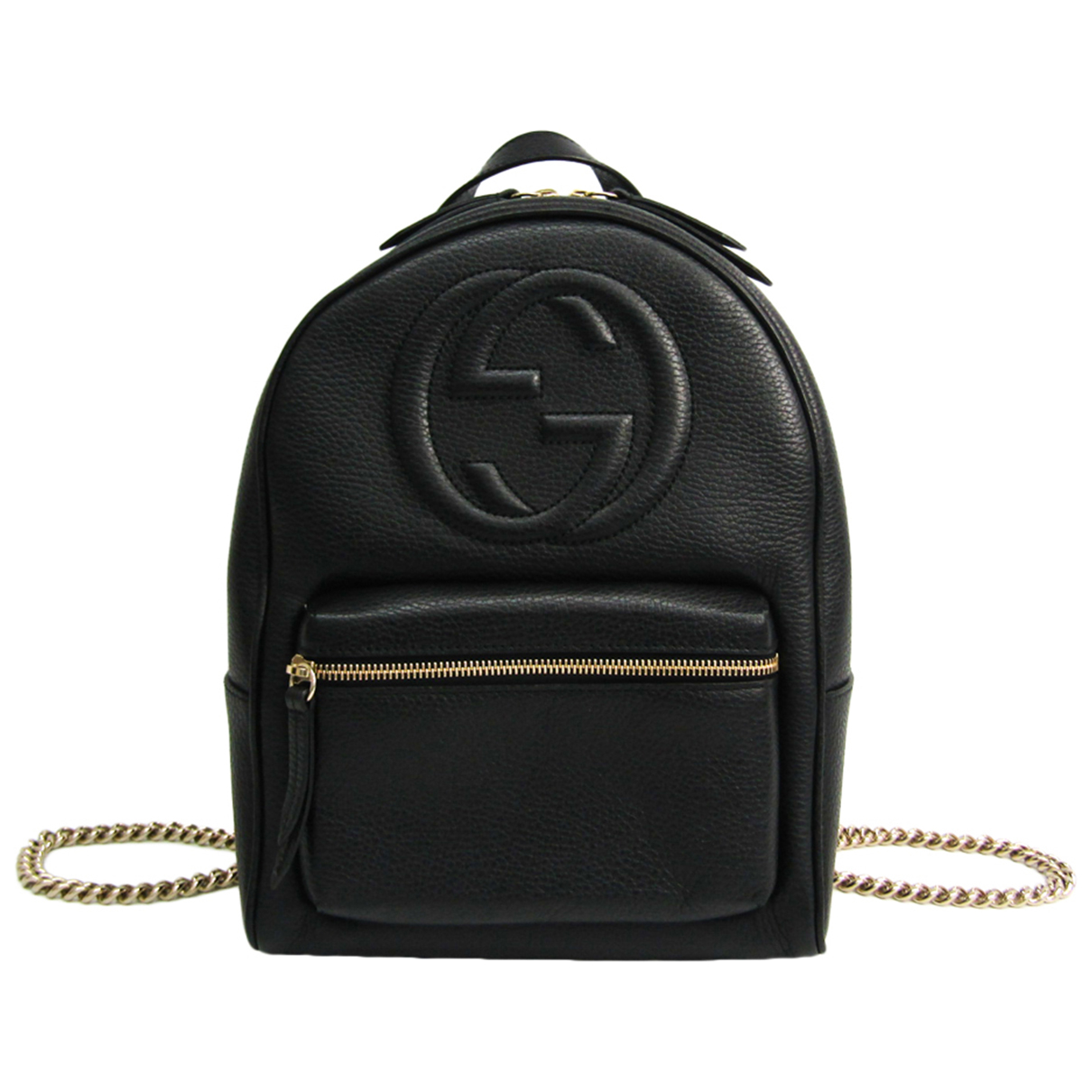 Gucci N Black Leather backpack for Women N