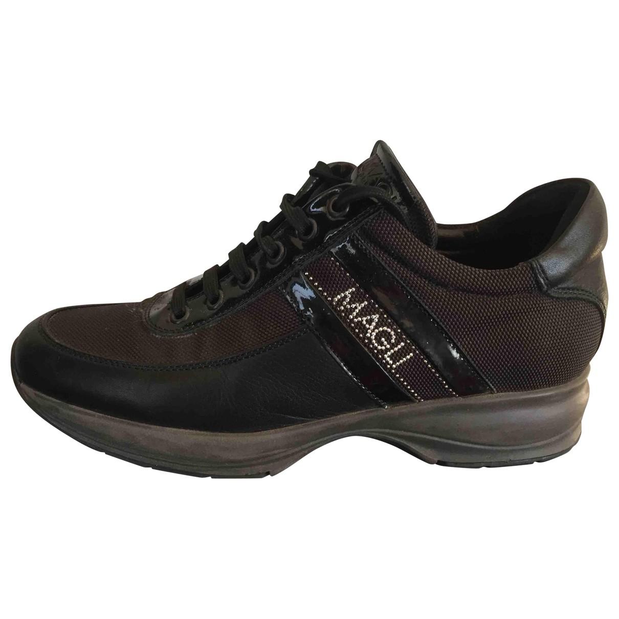 Bruno Magli \N Black Leather Trainers for Women 38 EU