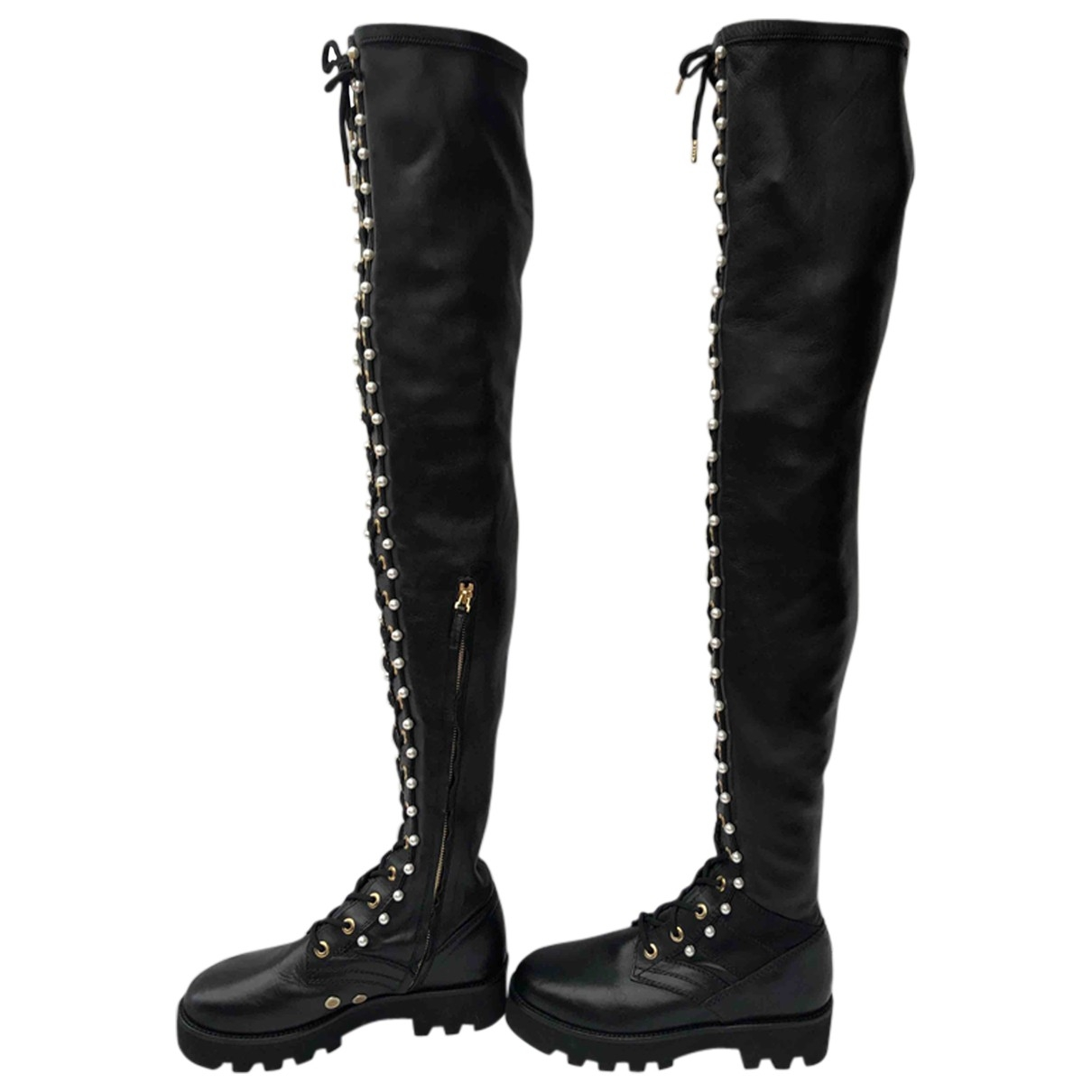 Altuzarra \N Stiefel in  Schwarz Leder