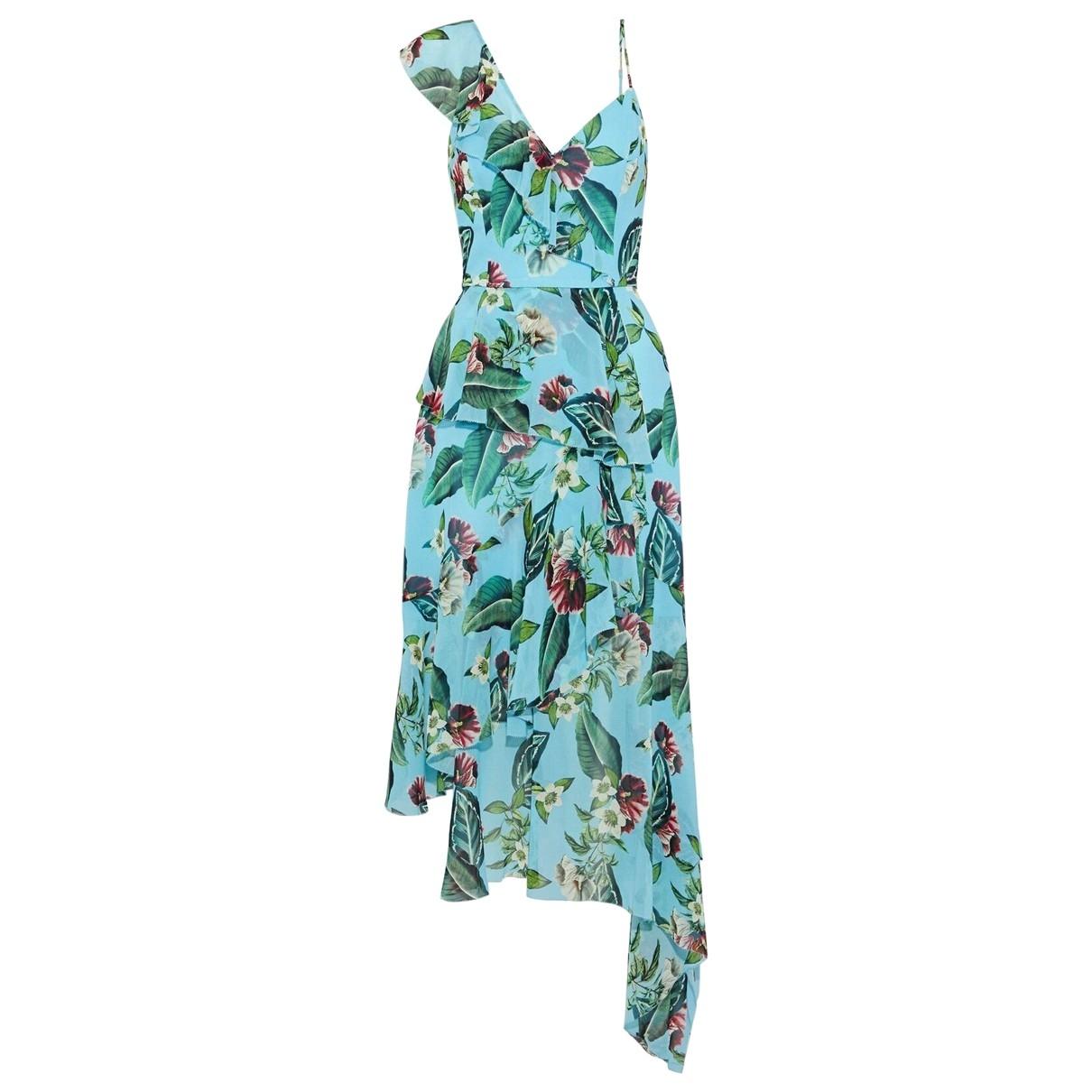 Nicholas \N Kleid in  Blau Seide