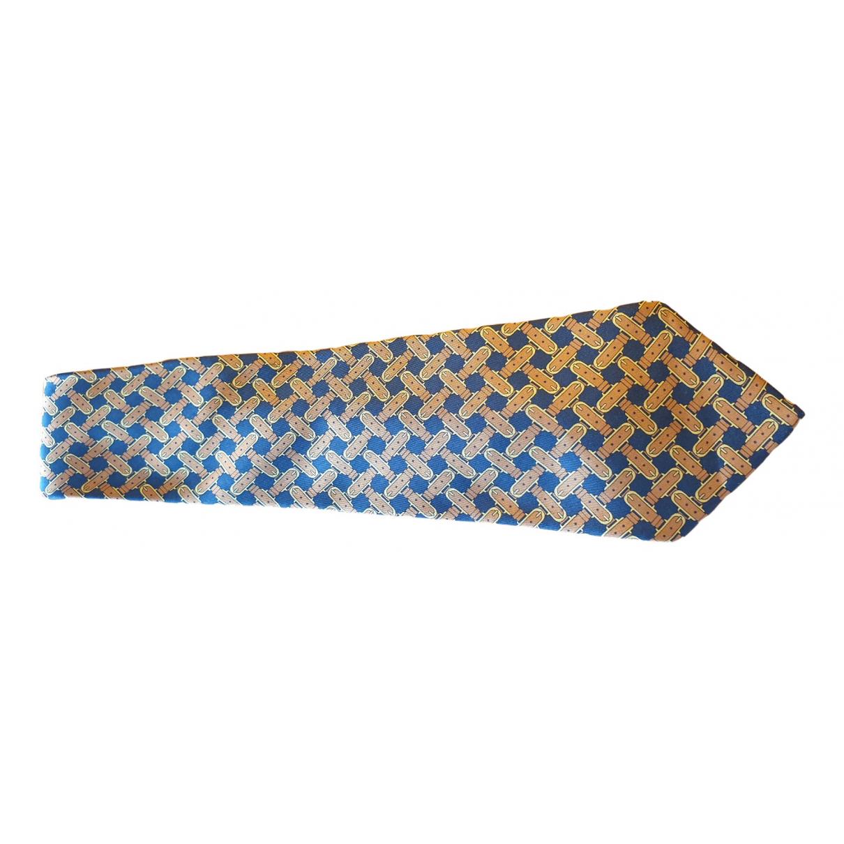 Hermes - Cravates   pour homme en soie - marron