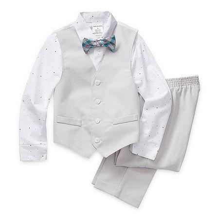 Van Heusen Little & Big Boys 4-pc. Suit Set, 10 , Gray