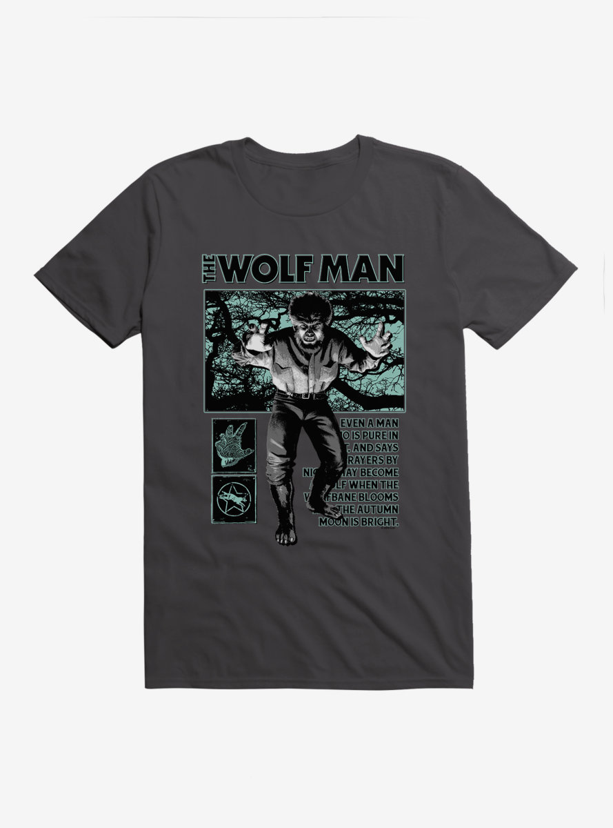 Universal Monsters The Wolf Man From Man To Beast T-Shirt