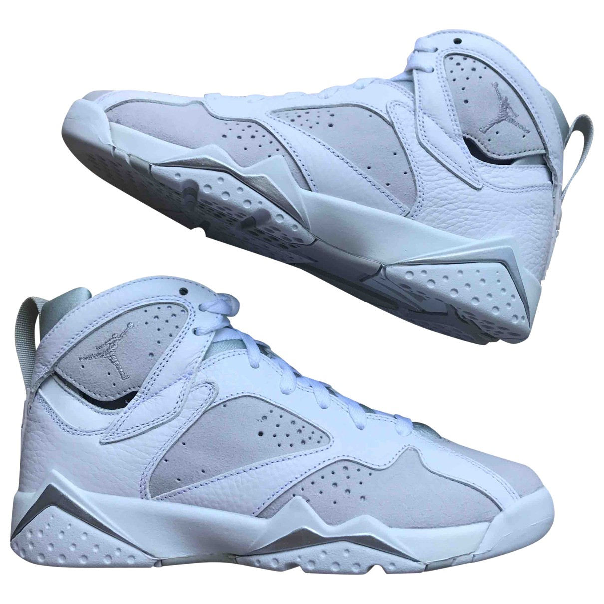 Jordan - Baskets Air Jordan 7 pour enfant en cuir - blanc