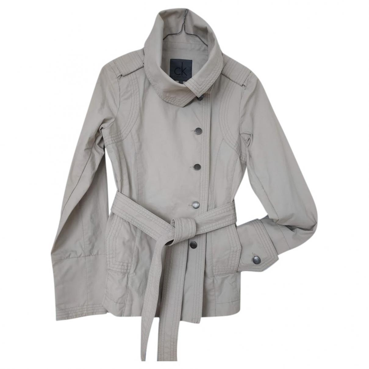 Calvin Klein \N Beige Cotton jacket for Women S International