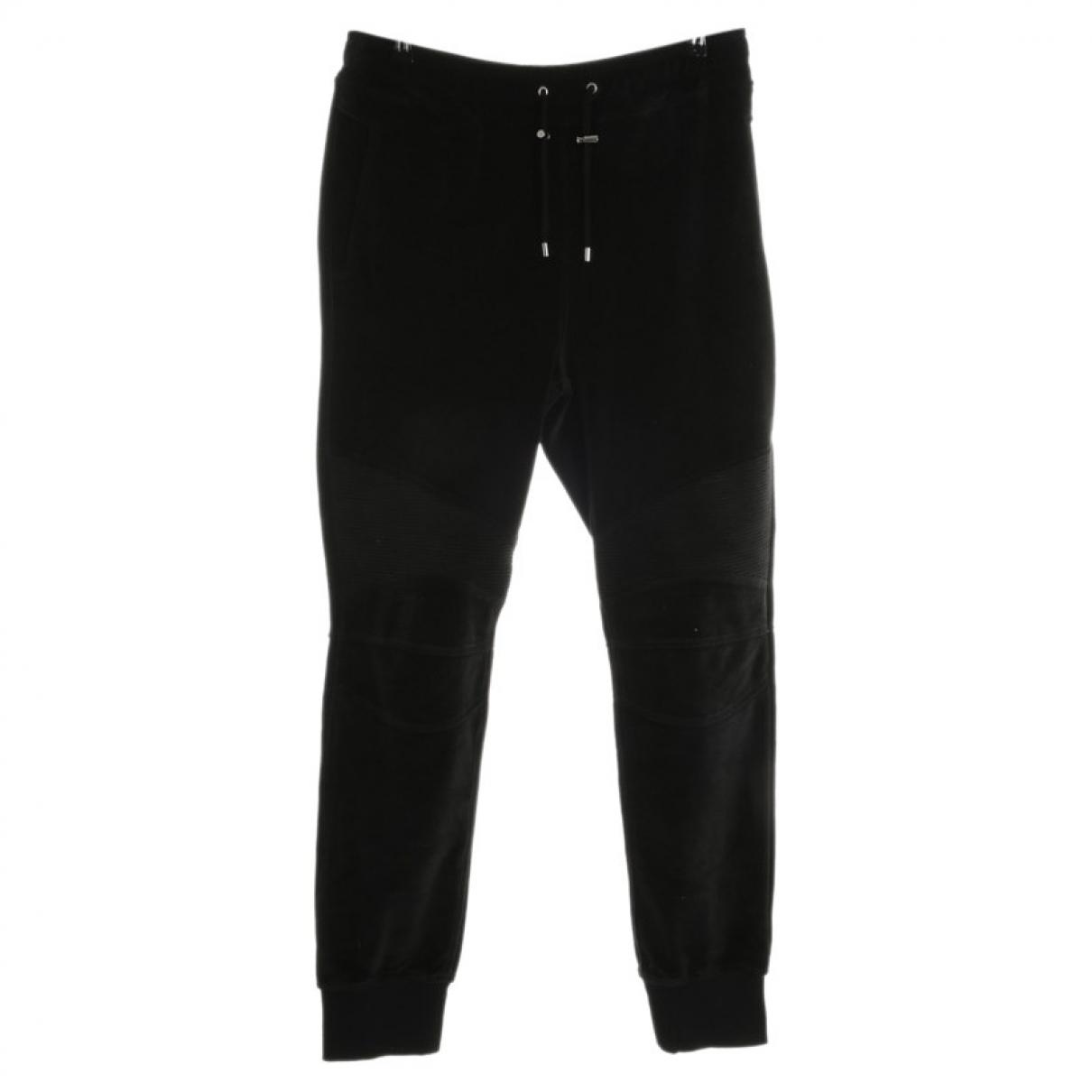 Pantalon en Algodon Negro Balmain