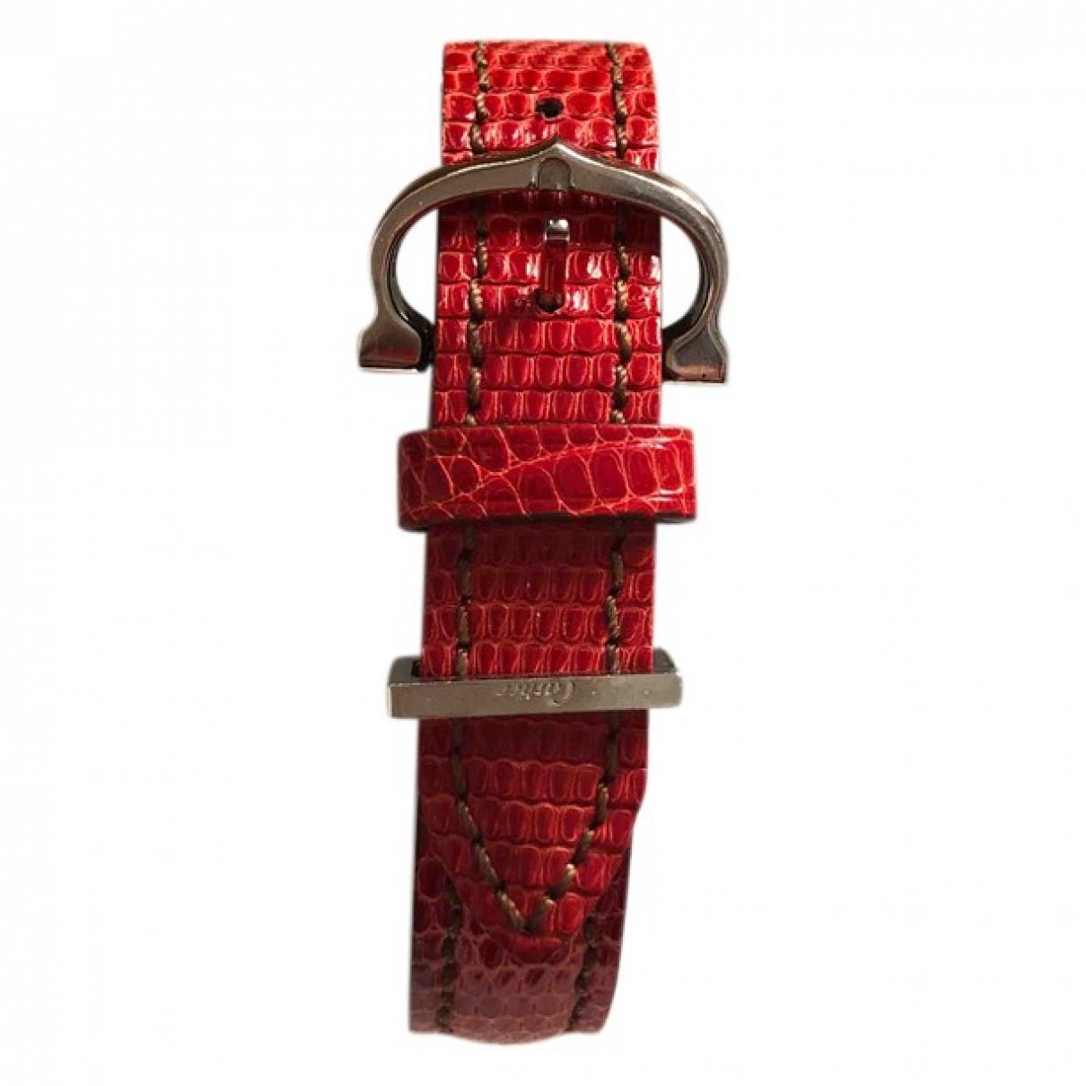 Cartier - Bracelet   pour femme en cuir - rouge