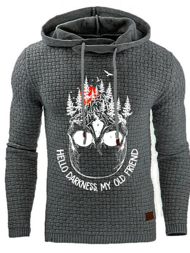 Ericdress Print Letter Pullover Winter Hooded Hoodies