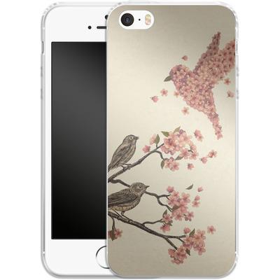 Apple iPhone 5s Silikon Handyhuelle - Blossom Bird von Terry Fan