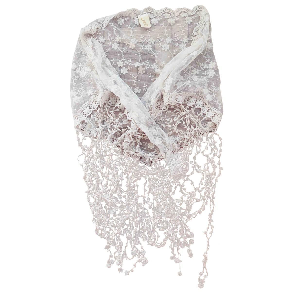 Autre Marque - Foulard   pour femme en coton - ecru