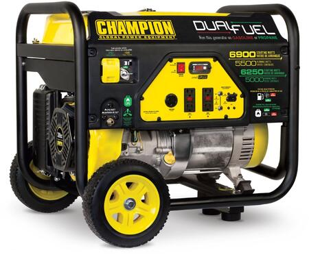 100231 5500-Watt Dual Fuel Portable Generator with 389cc Engine  Cold Start Technology  Volt Guard and Intelligauge in Black and