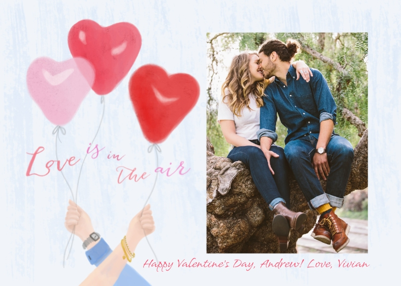 Just Because 5x7 Folded Cards, Premium Cardstock 120lb, Card & Stationery -Love Is In The Air