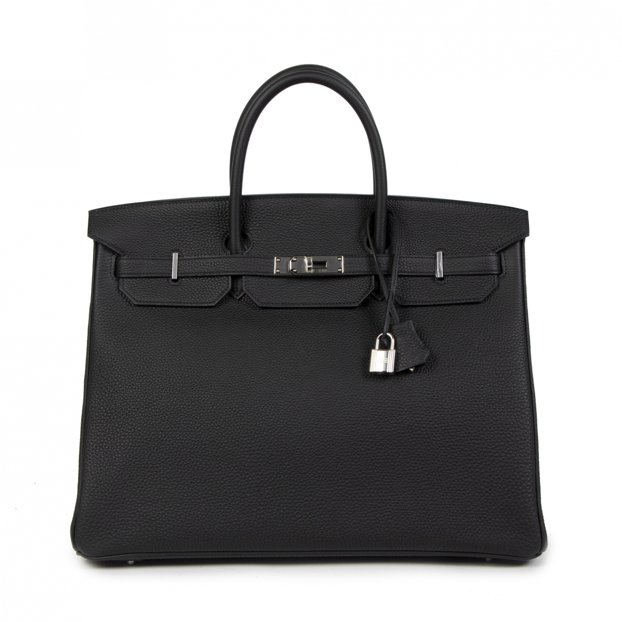 Hermes Birkin 40 Handtasche in  Schwarz Leder