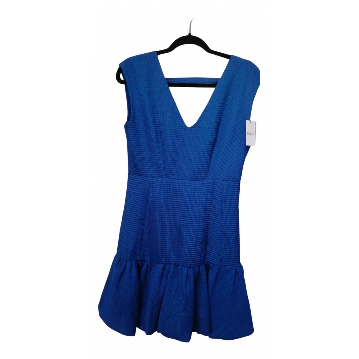 Claudie Pierlot \N Blue Cotton dress for Women 38 FR