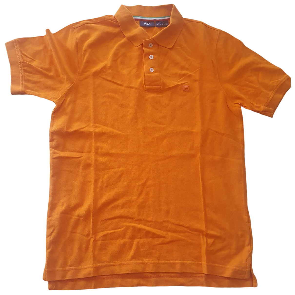 Fila - Polos   pour homme en coton - orange