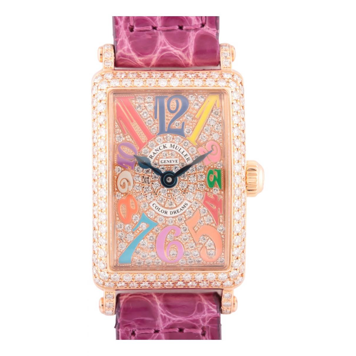Franck Muller N Purple Yellow gold watch for Women N