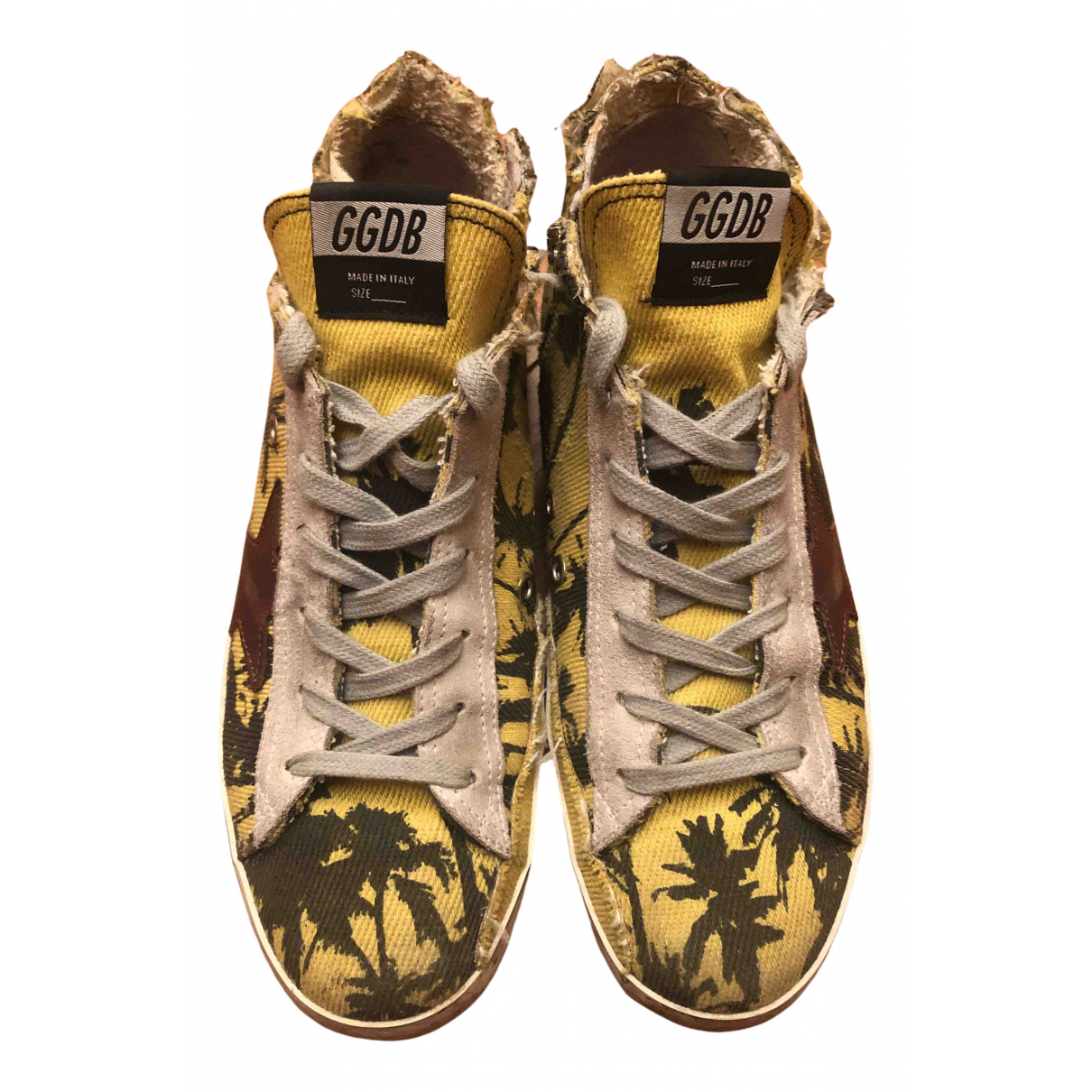 Golden Goose Francy Yellow Cloth Trainers for Women 39 EU