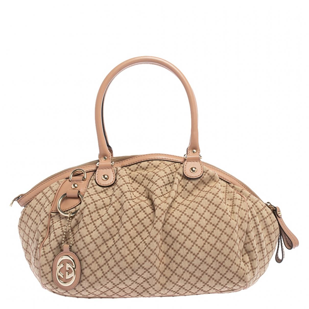 Gucci Sukey Beige Leather handbag for Women N